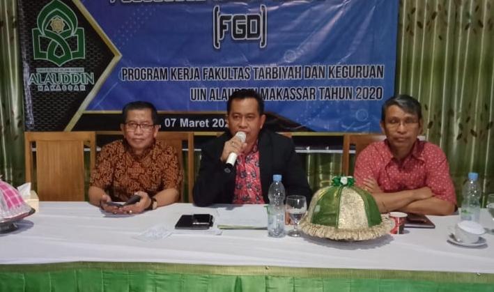 FGD Program Kerja Fakultas Tarbiyah UINAM, Dekan Tekan Komitmen Kerja